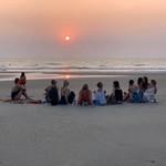 @instagram: Sunset ✨ #mandrem #goa #india #sunset #yoga #yinyoga