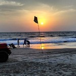 majorda goa beach sunset
