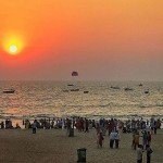 calangute india goa beach nature sunset