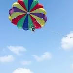 calangute goa beach parasailing
