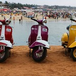 @instagram: Beach please . . . . #goa #goascape #beach #baga #sun #sand #sea #scooter #scooters #beachlife #colors #oldskool #vintage #bajajchetak #2stroke #love #scootergang #goans