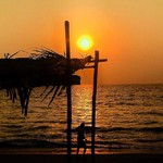 candolim goa beach sunset