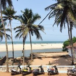 @instagram: breakfast with a view #prana ???????????? : : : : : : #ashvem #ashvembeach #goa #india #pranacafe #goalove #scooters #lastday #perfectday #love #gratitude #beachlife #mandremforever #cortado #beachday #thisisindia