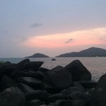 @instagram: We are just atoms in the universe ☮️#beachblue#palolem#goa#goagoal#babes#sunbathing