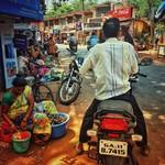 @instagram: Mandrem Market, Goa, India. #india #goa #mandrem #market #motorbike