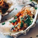 @instagram: Grilled oysters with parsley, garlic , butter  and paprika ..serving now#goa #bar #morjim #restaurant