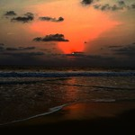 @instagram: Benaulim Sunset  #sunsets #sea #benaulim #evening #running #skies #summer #goa