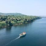 @instagram: #goa #india #goa2019 #boat #river #sun#sky #siolim #siolimbridge