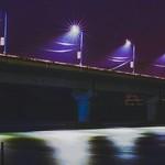 @instagram: Purple Siolim . . . . . . . . #longexposure #bridge #night #fixedlink #light #overpass #beambridge #lighting #water #suspensionbridge #waterway #boxgirderbridge #sky #nonbuildingstructure #concretebridge #river #skyway #city #girderbridge #midnight #stree